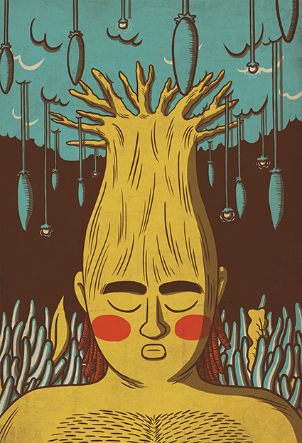 Baobab Tree - Illustration cover from Mozambique exhibition